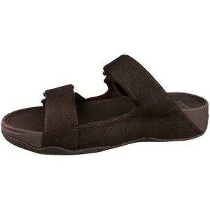 FitFlop Gogh Moc Sandalia Velcro Shoes - Chocolate